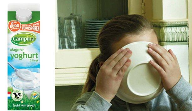 Campina magere yoghurt: geen zure bekkies