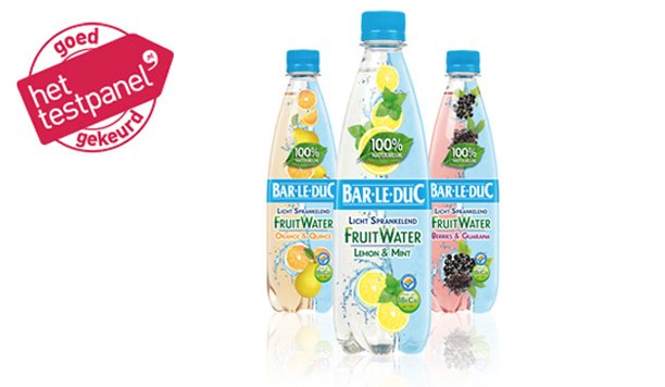 Bar-le-Duc FruitWater: 100% natuurlijk, 100% lekker