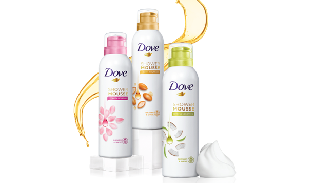 Dove Shower Mousse: zacht, mild en superschuim
