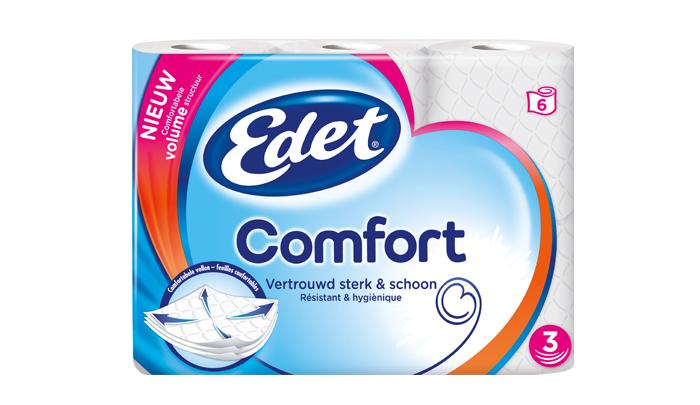 Test het nieuwe toiletpapier Edet Comfort!