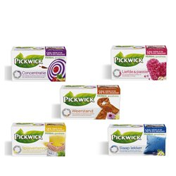 Meer dan de helft van de testers raadt Pickwick Herbal Goodness aan!