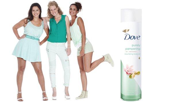 Dove body oil: 'Pure verwennerij!'