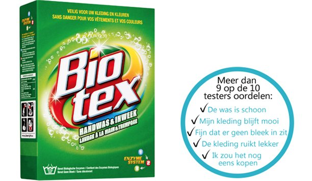 Biotex Handwas & Inweek: natuurlijke vlekverwijderaar zonder bleek