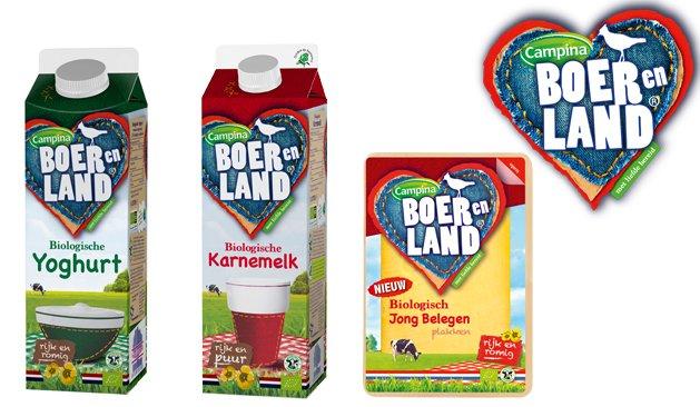 Campina BOER en LAND: biologisch, rijk en romig!