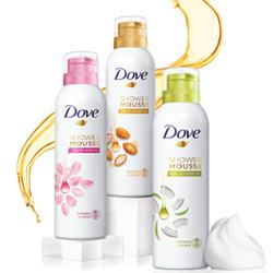 Dove Shower Mousse: zacht, mild en superschuim