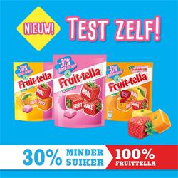 Testresultaten: Fruittella 30% minder suiker smaakt naar meer