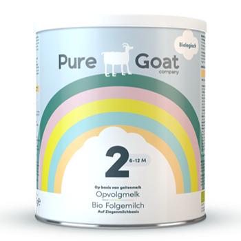 Test nu met jouw kindje Pure Goat Company Opvolgmelk 2!