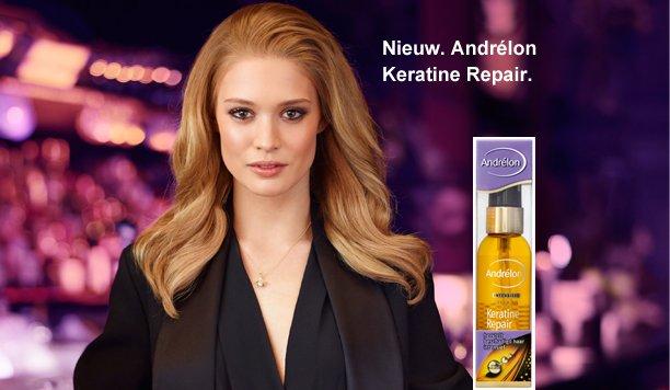 Andrélon Keratine Repair serum-olie zorgt voor een prachtige glans zonder je haar te vet te maken!