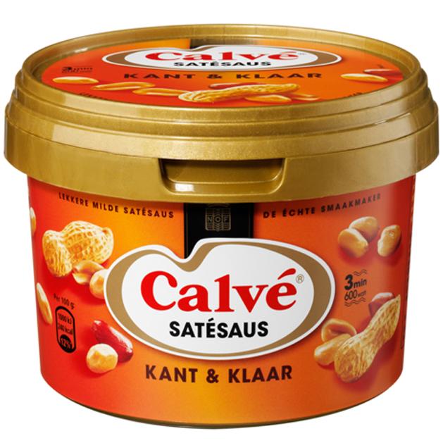 Test nu de nieuwe Calvé Satésaus (kant & klaar)!